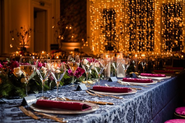 Stunning table display at HOpetoun House