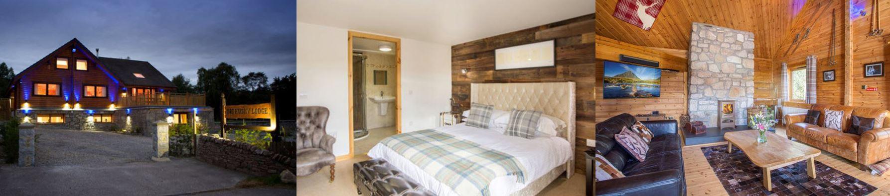 Luxury breaks Big Husky Lodge scotland