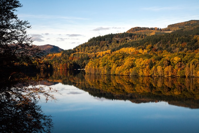 Fonab Castleloch views in Scotland