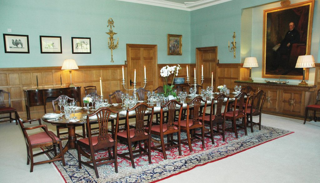 Blair Estate Scotland Luxury Exclusive Use Private dining